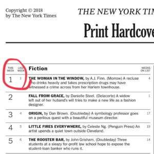 How A J  Finn Landed At #1 On The New York Times Bestseller